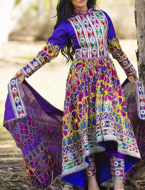 مدل لباس افغانی زنانه جدید 5
