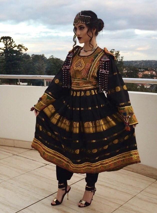مدل لباس زنانه افغانی3