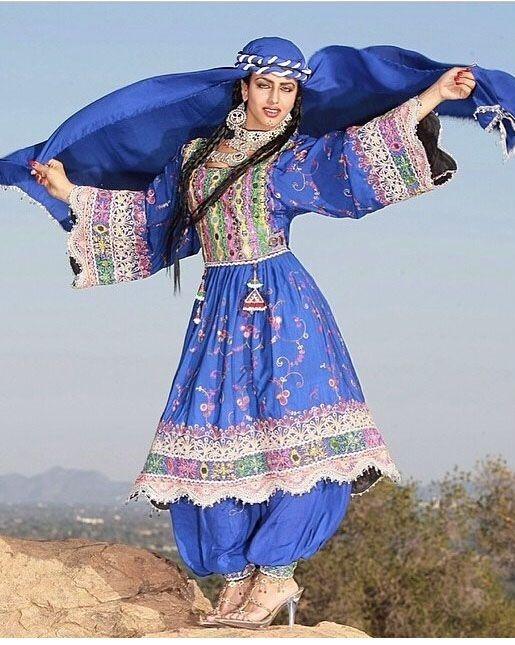 مدل لباس زنانه افغانی7