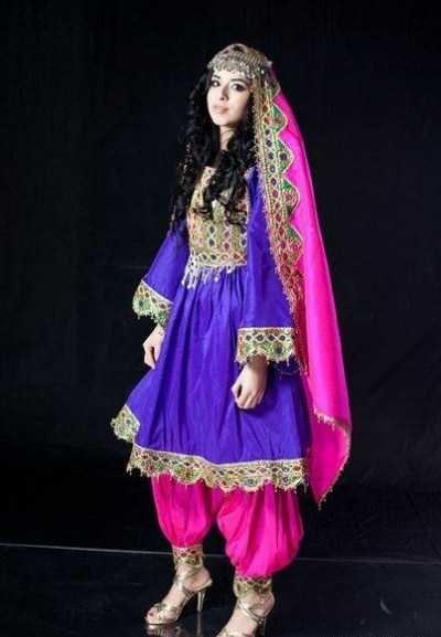 مدل لباس زنانه افغانی10