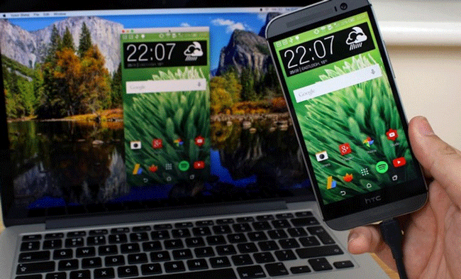 نمایش صفحه گوشی روی کامپیوتر و لپ تاپ با کابل و بدون کابل با نرم افزار