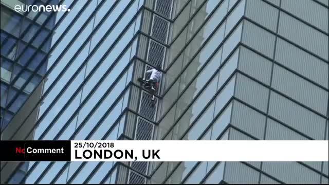 بالا رفتن «مرد عنکبوتی» از برج ۲۰۰ متری در لندن