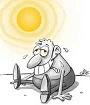 آفتابزدگی و واکنش بیش از حد با آفتاب