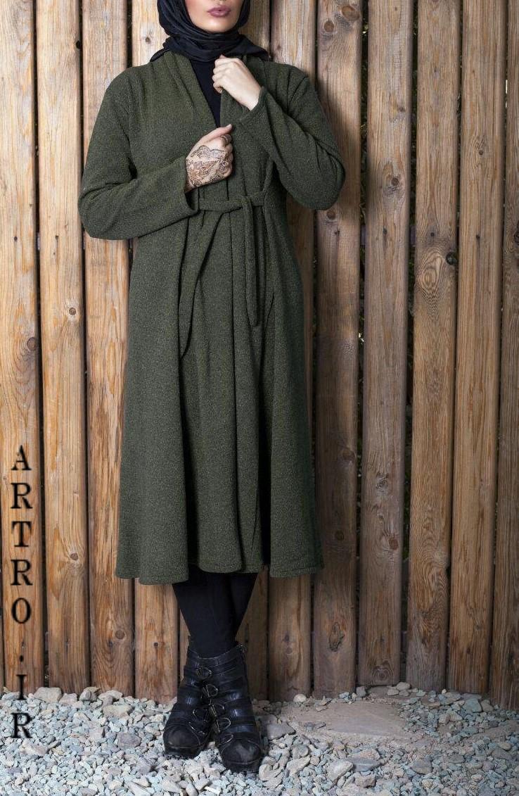 مدل مانتو با پارچه بافتنی