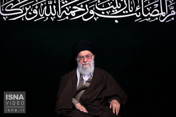 بیانات امام خامنه ای در پایان مراسم عزاداری هیئتهای دانشجویی بهمناسبت اربعین حسینی