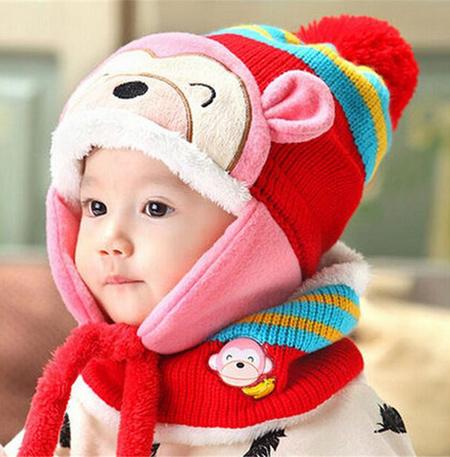 مدل شال و کلاه بافتنی بچه گانه1