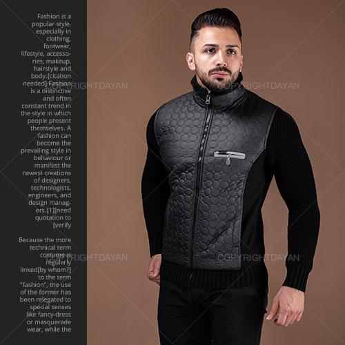 فروش کاپشن مردانه Maran مدل E5462 (مشکی و آبی)