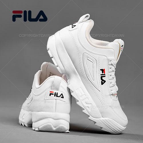 فروش کفش زنانه Fila مدل V1169 (سفید - زرشکی )