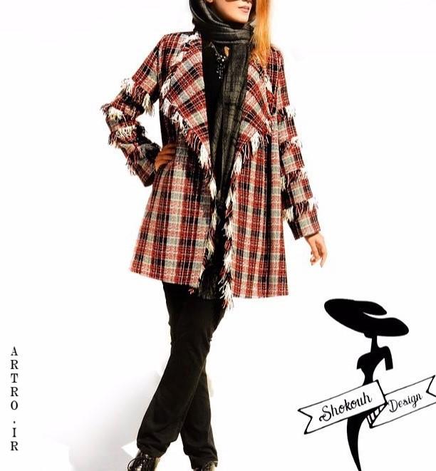 مدل مانتو چهارخونه زنانه