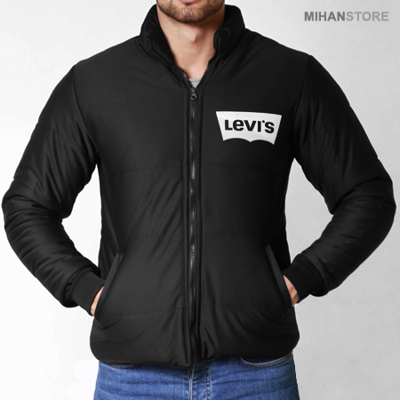 فروش کاپشن مردانه Levis طرح Bork - کاپشن مشکی