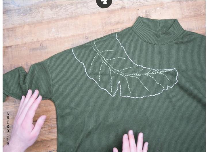 آموزش گلدوزی روی لباس بافتنی 3