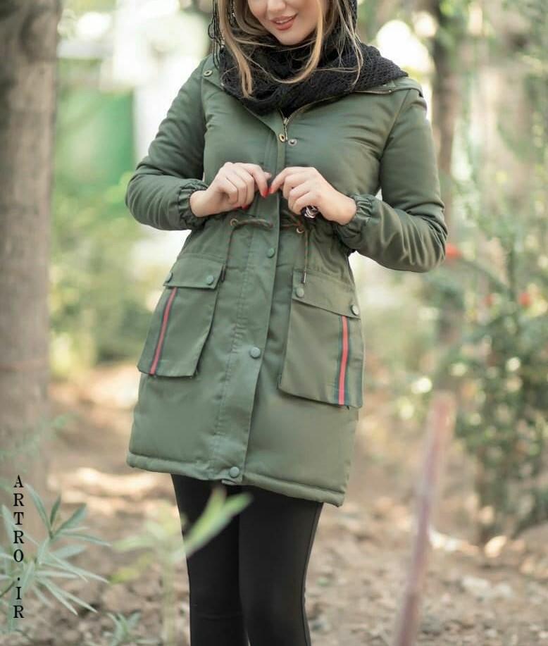 مدل کاپشن دخترانه سبز
