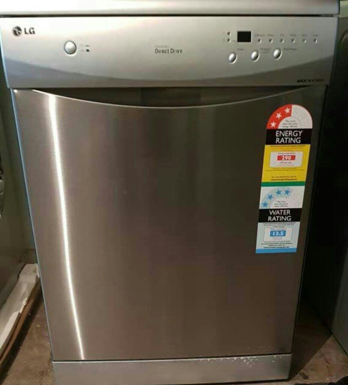 ماشین ظرفشویی 14 نفره الجی دایرکت درایو رنگ سیلور 3طبقه اسانسور دار