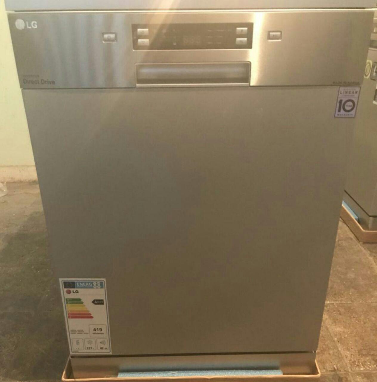 ماشین ظرفشویی 14 نفره الجی رنگ سیلور 3طبقه اسانسور دار تاچ دیجیتال