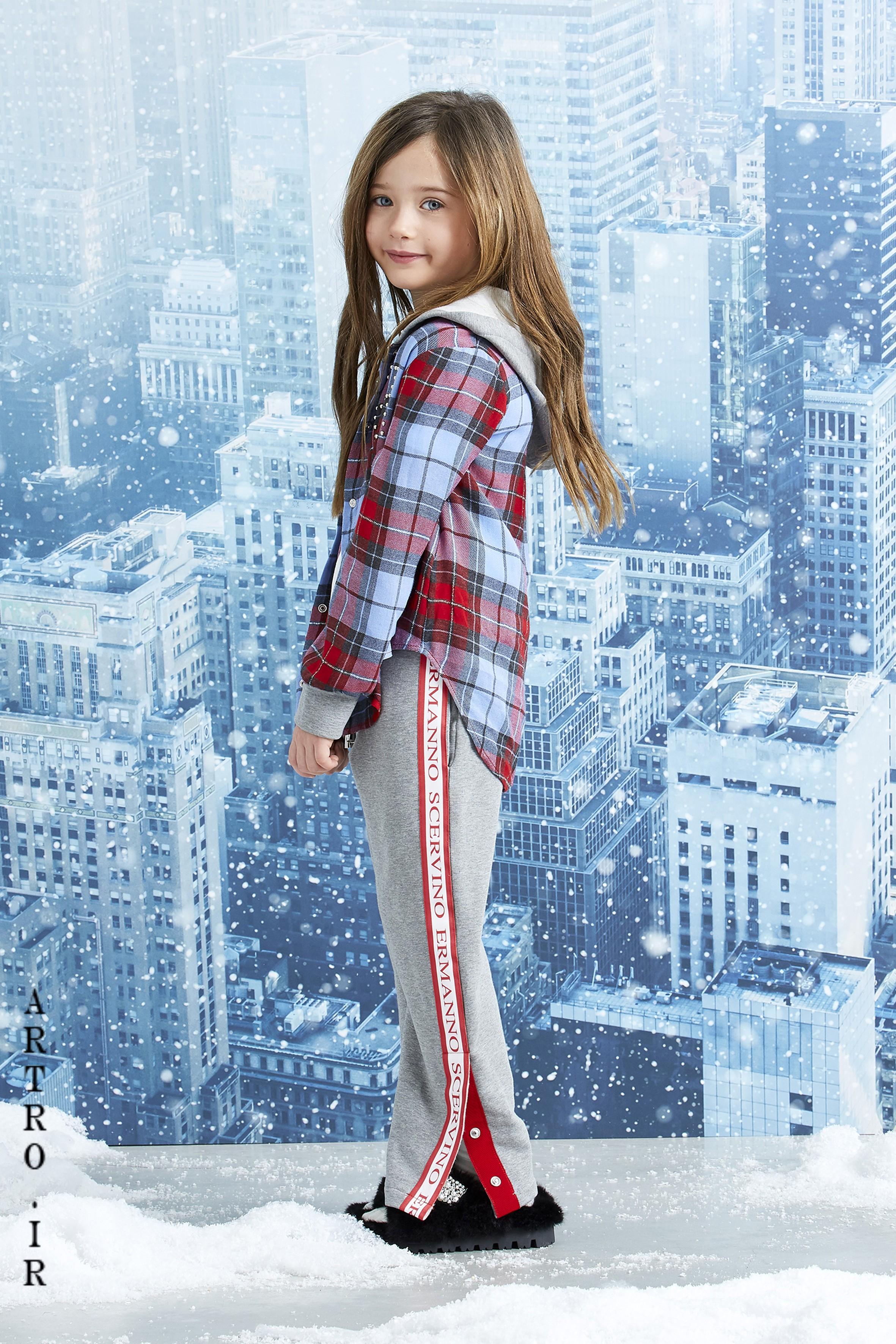 مدل پیراهن زمستانی دختربچه چهارخونه