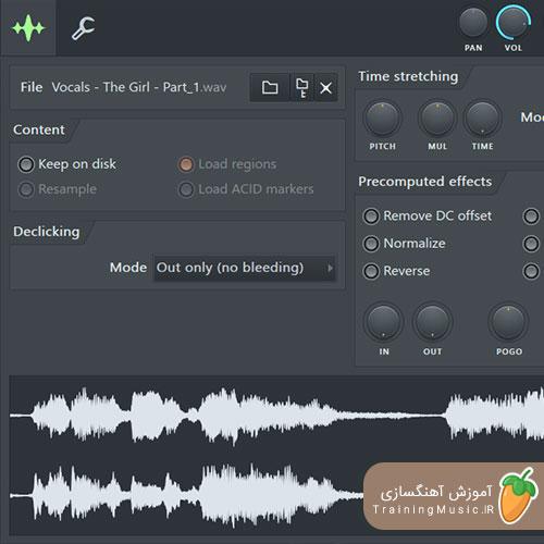 آموزش استفاده از Time Stretch و ابزارهای Audio Clips