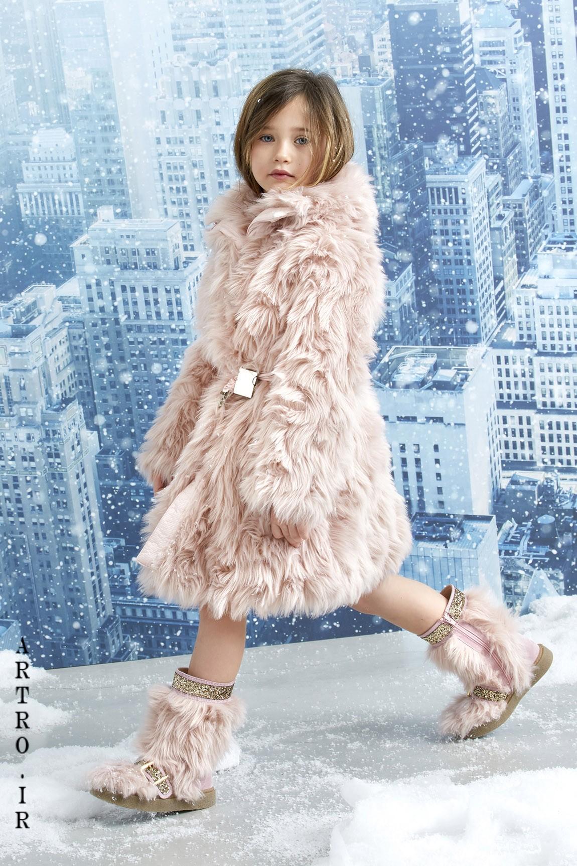 مدل پالتو خز دختربچه