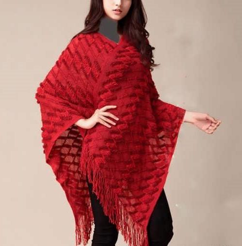 مدل شنل بافتنی بلند دخترانه