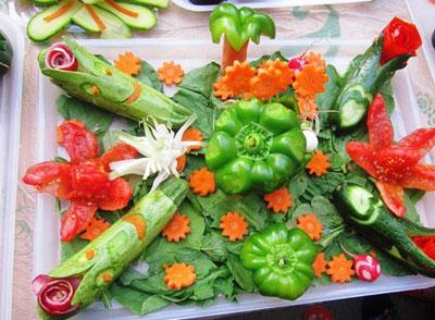 آموزش سبزی آرایی,تزیین سبزی خوردن