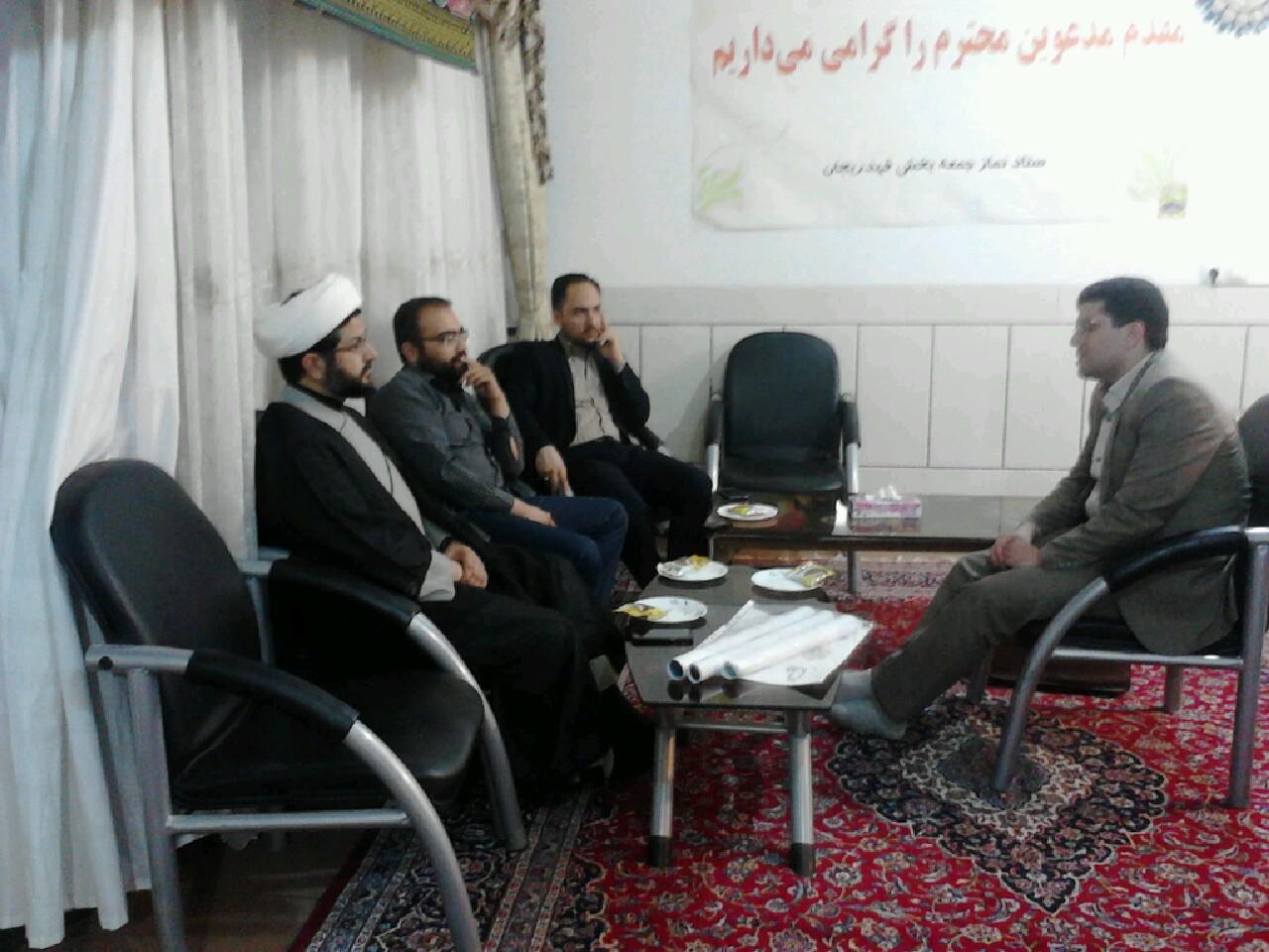 دیدار جمعی از فعالان فرهنگی شهرستان با امام جمعه محترم شهر قهدریجان