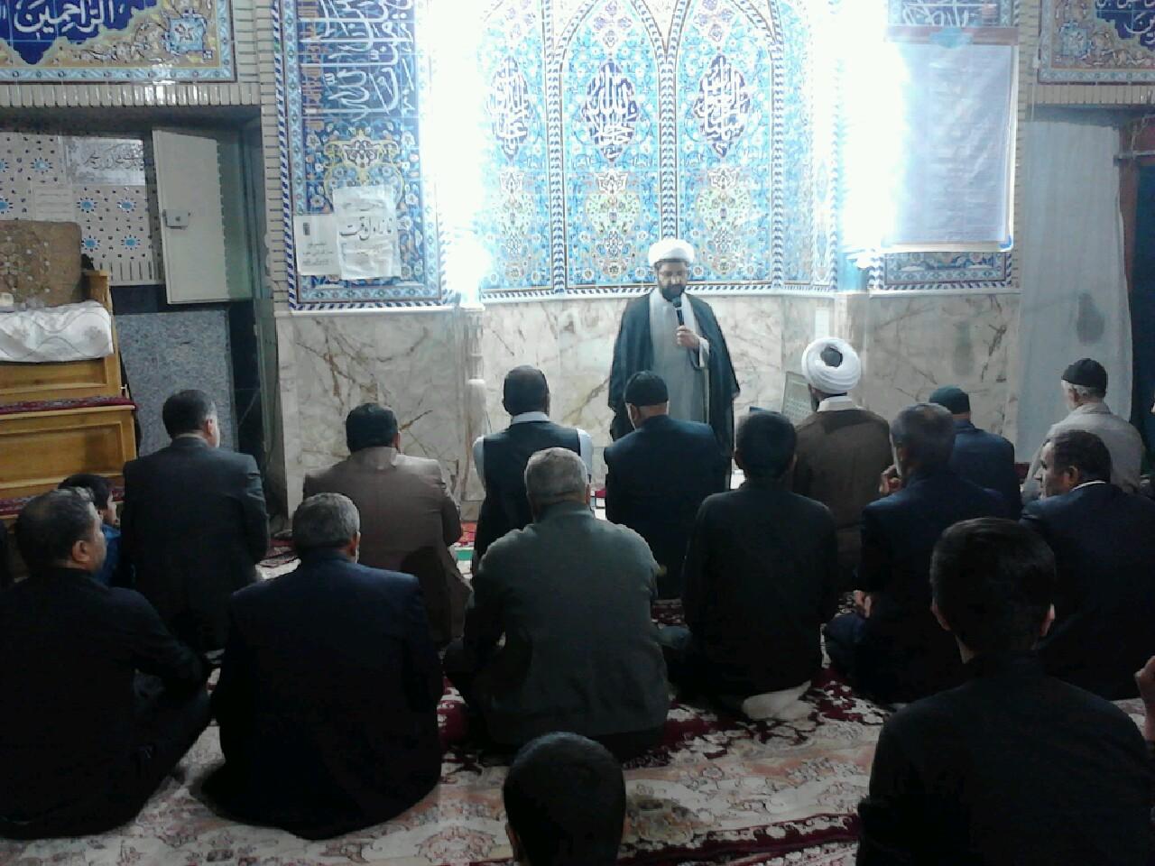 سخنرانی امام جمعه محترم شهر قهدریجان در مسجد النبی