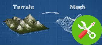 پکیج یونیتی terrain to mesh