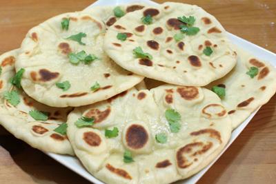 طرز تهیه نان هندی