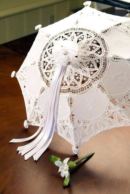 چترهای مناسب عروس,چترهای گیپور عروس