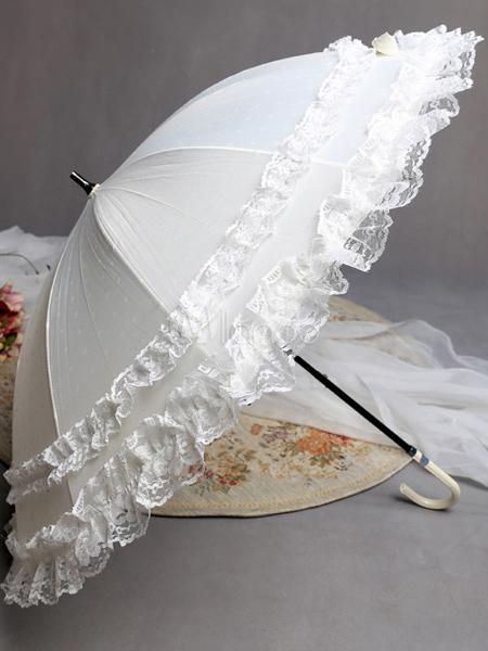 تصاویر چترهای سفید,چتر سفید عروس