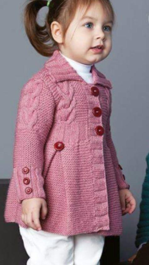 مدل ژاکت بافتنی دخترانه بچه گانه