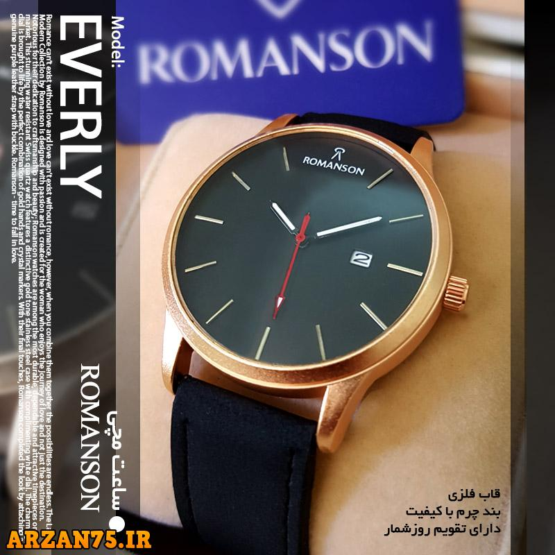 ساعت مچی مدل Romanson بند مشکی,مدل جدید ساعت مچی رومانسون,ساعت رومانسون زیبا