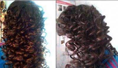 فر زدن مو در خانه-فر کردن مو