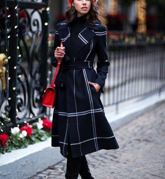 مدل پالتو چهارخونه دخترانه 2019