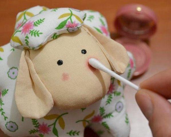 روش دوخت عروسک گوسفند