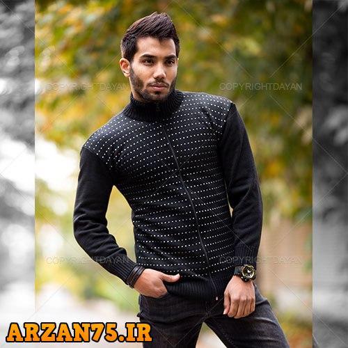 بافت مردانه مدل Maran رنگ مشکی,بافت جدید مردانه مشکی,بافت پسرانه رنگ مشکی,بافت زمستانی مردانه,مدل جدید بافت های زمستانی
