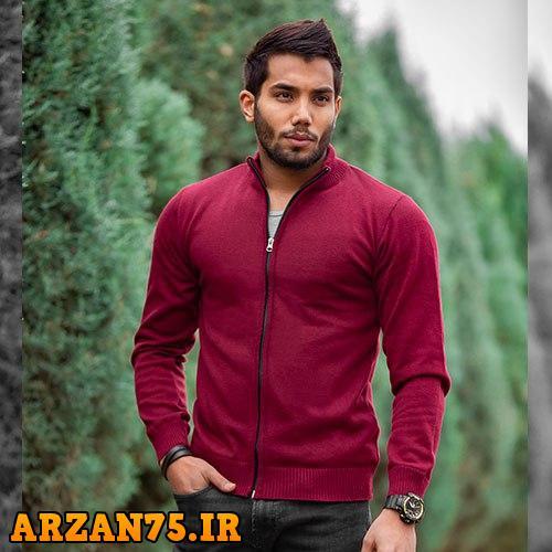 خرید بافت جدید مردانه مدل Alvin قرمز رنگ
