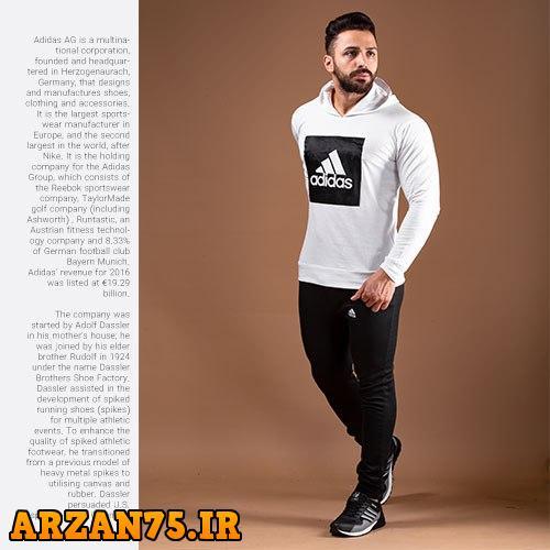 خرید ست سویشرت و شلوار مردانه مدل Adidas رنگ سفید