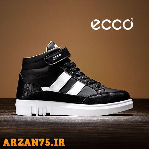 خرید کفش ساقدار زنانه مدل Ecco رنگ مشکی سفید