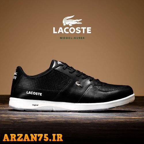 کفش مردانه مدل Lacoste رنگ مشکی,کفش مردانه جدید,مدل جدید کفش مردانه,کفش مردانه رنگ مشکی,کفش جدید پسرانه