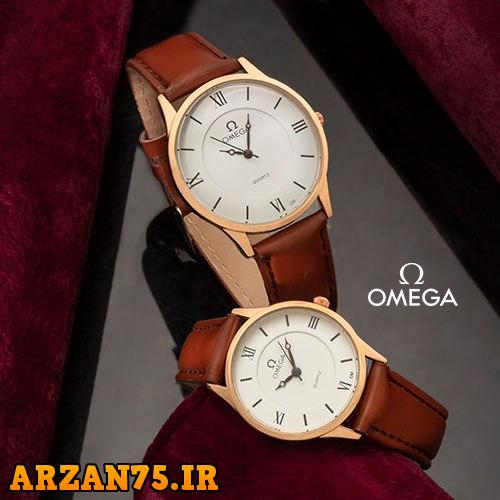 خرید ست ساعت مردانه و زنانه مدل Omega قهوه ای