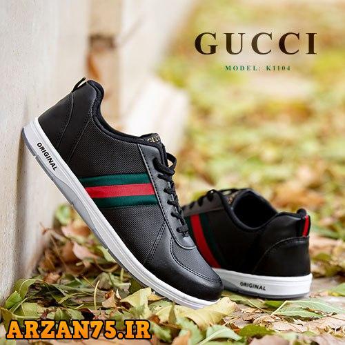 کفش مردانه مدل Gucci رنگ مشکی,مدل جدید کفش مردانه,کفش مردانه گوچی,مدل جدید کفش گوچی مردانه,کفش مردانه گوچی مشکی رنگ