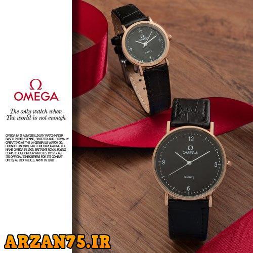 خرید ست ساعت زوجی مدل Omega مشکی