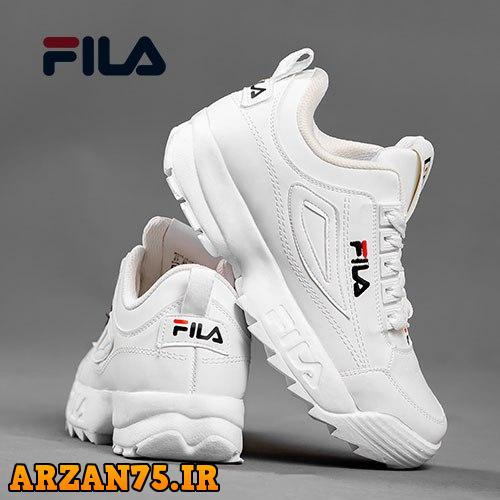 کفش ساقدار زنانه مدل Fila تمام سفید,کفش ساقدار زنانه سفید رنگ,مدل جدید کفش زنانه سفید
