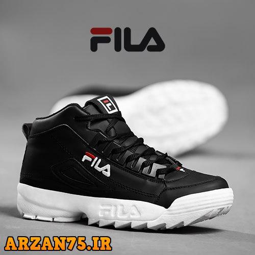 کفش ساقدار زنانه مدل Fila مشکی سفید,مدل جدید کفش ساقدار زنانه برند فیلا,کفش ساقدار زنانه مشکی سفید
