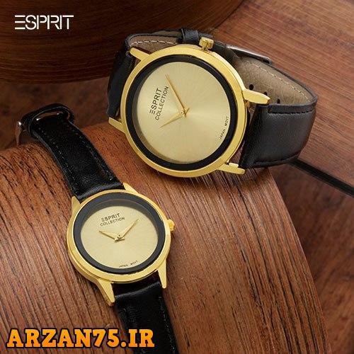 خرید ست ساعت زوجی مدل Esprit طلایی
