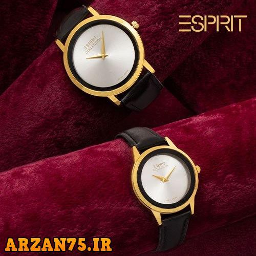 ست ساعت مردانه و زنانه مدل Esprit نقره ای,ست ساعت مردانه و زنانه,مدل جدید ساعت زوجی نقره ای,مدل جدید ساعت ست عروس و داماد