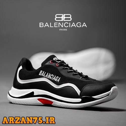 کفش مردانه مدل Balanciaga مشکی سفید,مدل جدید کفش مردانه زیبا,مدل جدید کفش مردانه مشکی سفید