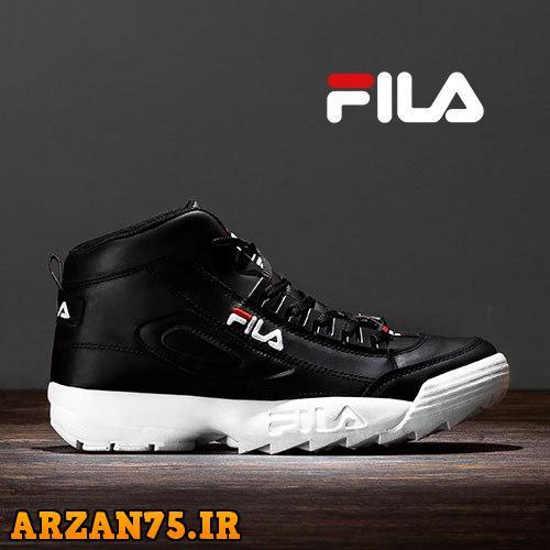 خرید کفش ساقدار مردانه مدل Fila مشکی سفید