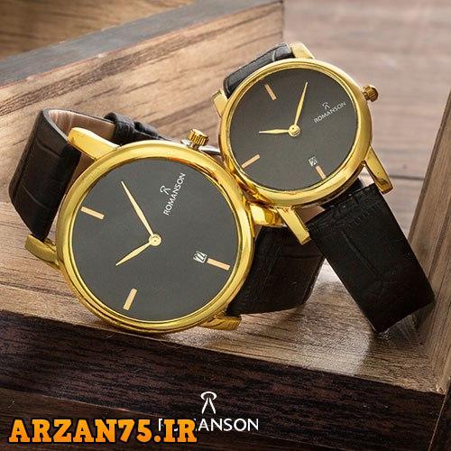 خرید ست ساعت زوجی Romanson مشکی