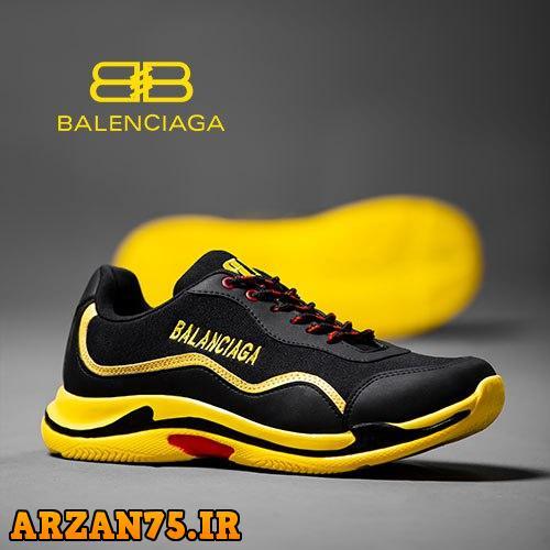 خرید کفش مردانه مدل Balanciaga مشکی زرد